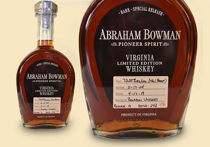 A. Smith Bowman Distillery   Abraham Bowman Release
