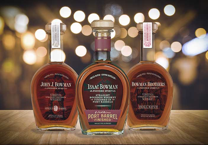 A. Smith Bowman Distillery, Bowman Brothers Small Batch, Isaac Bowman Port Finish, and John J. Bowman Single Barrel won gold medals at the 2019 American Whiskey Masters competition.