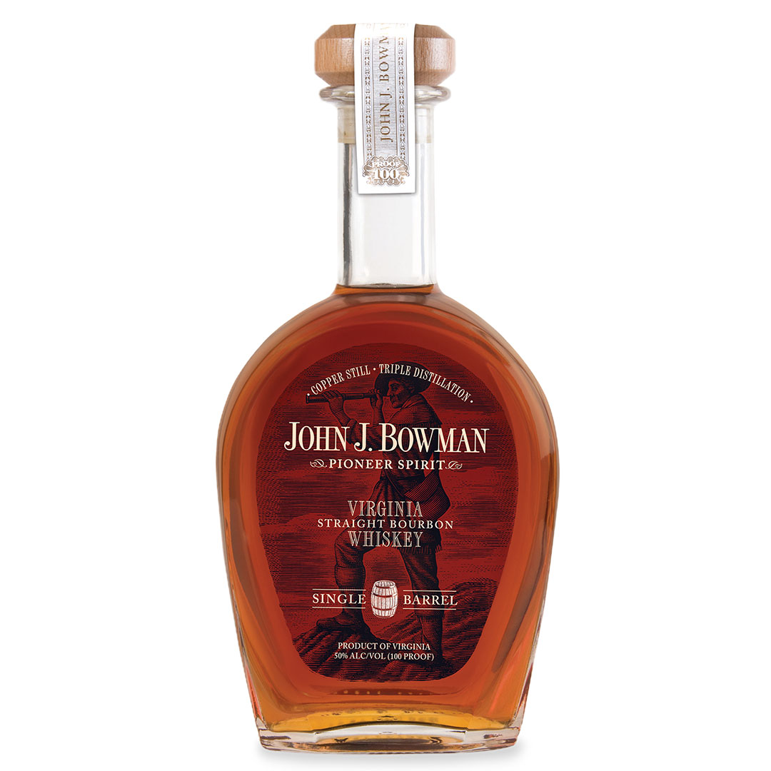 Bottle of John J Bowman by A Smith Bowman Distillery