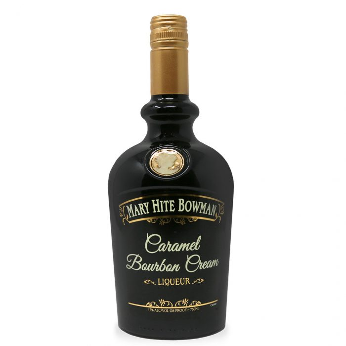 Bottle of Mary Hite Caramel Bourbon Cream by A Smith Bowman Distillery