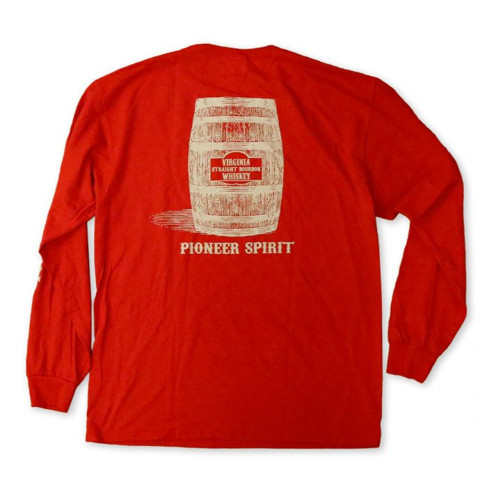 Red Long Sleeve T-Shirt | Back | A. Smith Bowman Distillery