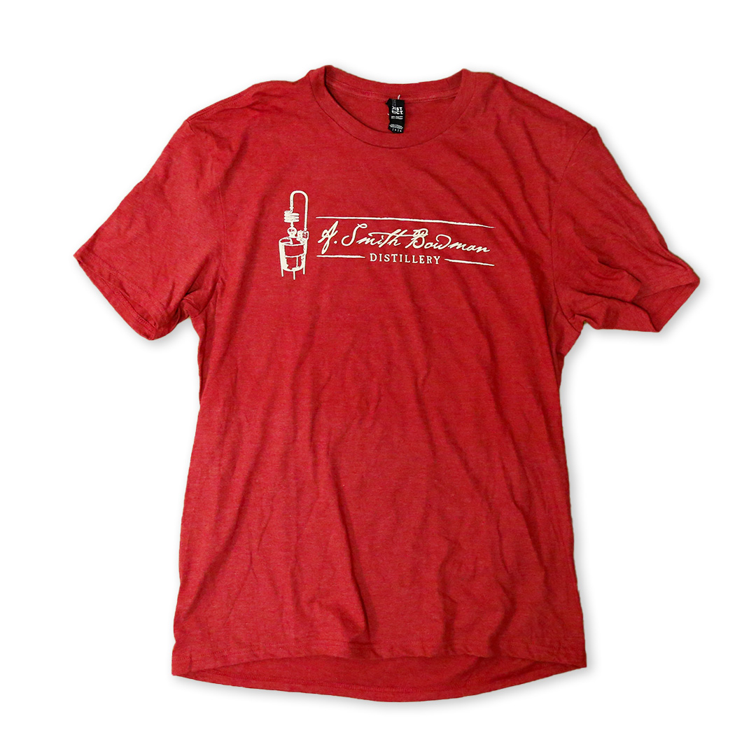 Red Short Sleeve T-Shirt | A. Smith Bowman Distillery