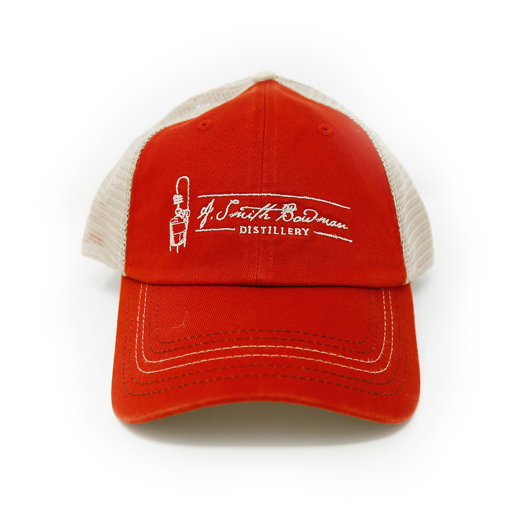 Red/Tan Trucker Hat | A. Smith Bowman Distillery