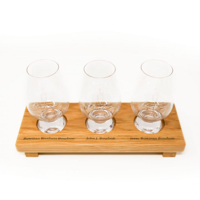 A. Smith Bowman Distillery Product | Flight Board with Glencairn Glasses