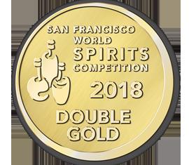 2018 San Francisco World Spirits Competition Double Gold Award