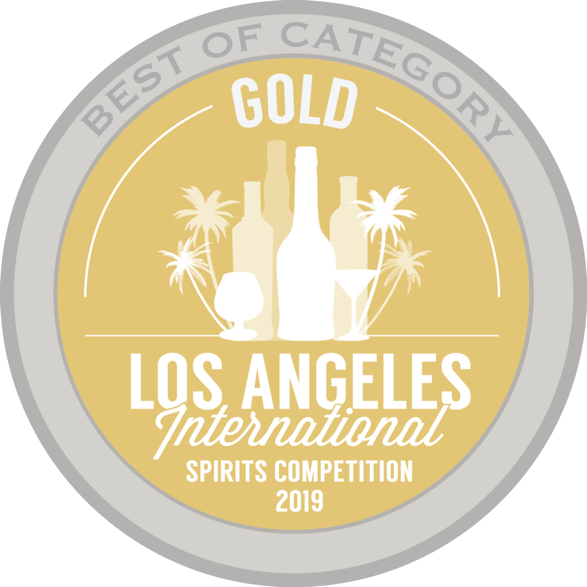 2019 Los Angeles International Spirits Competition Best of Category Gold Award