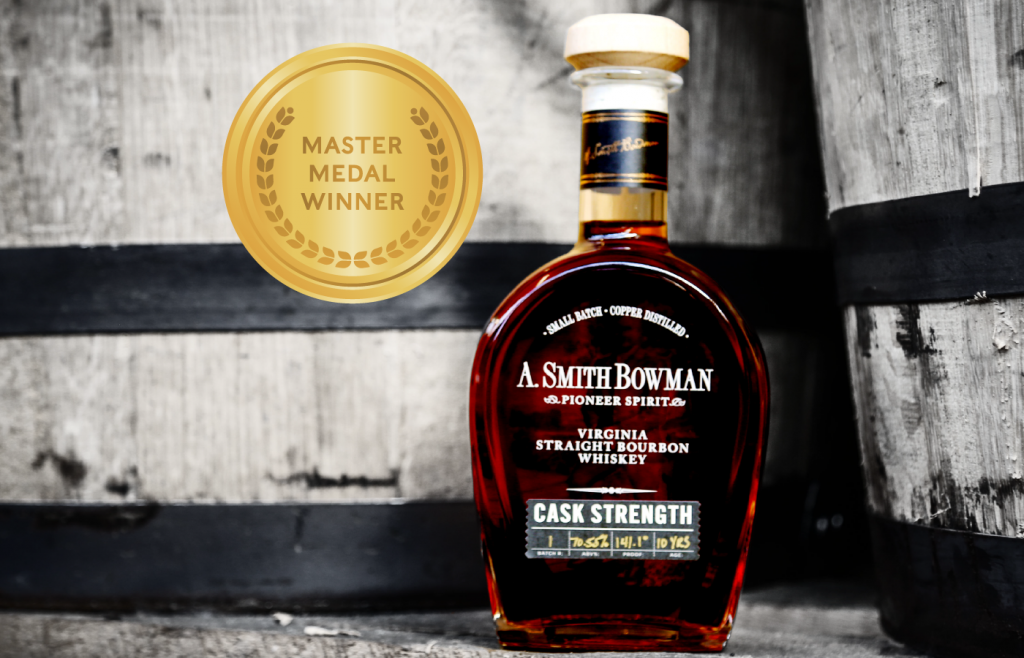 A. Smith Bowman Cask Strength wins Master Medal at the 2021 American Whisky Masters