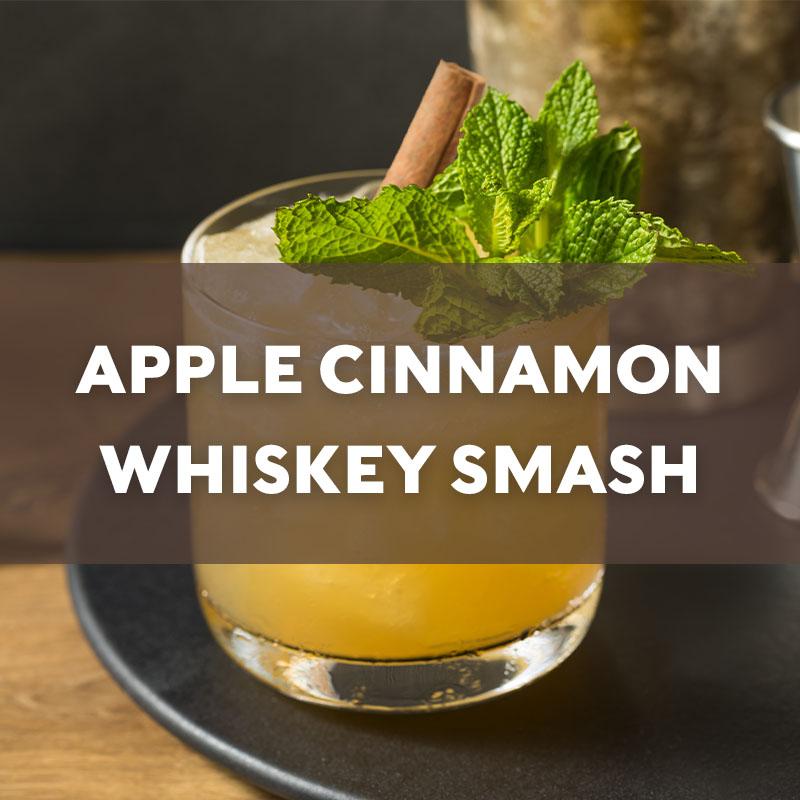 Apple Cinnamon Whiskey Smash Cocktail Recipe