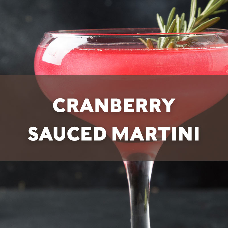 Cranberry Sauced Martini Cocktail Recipe