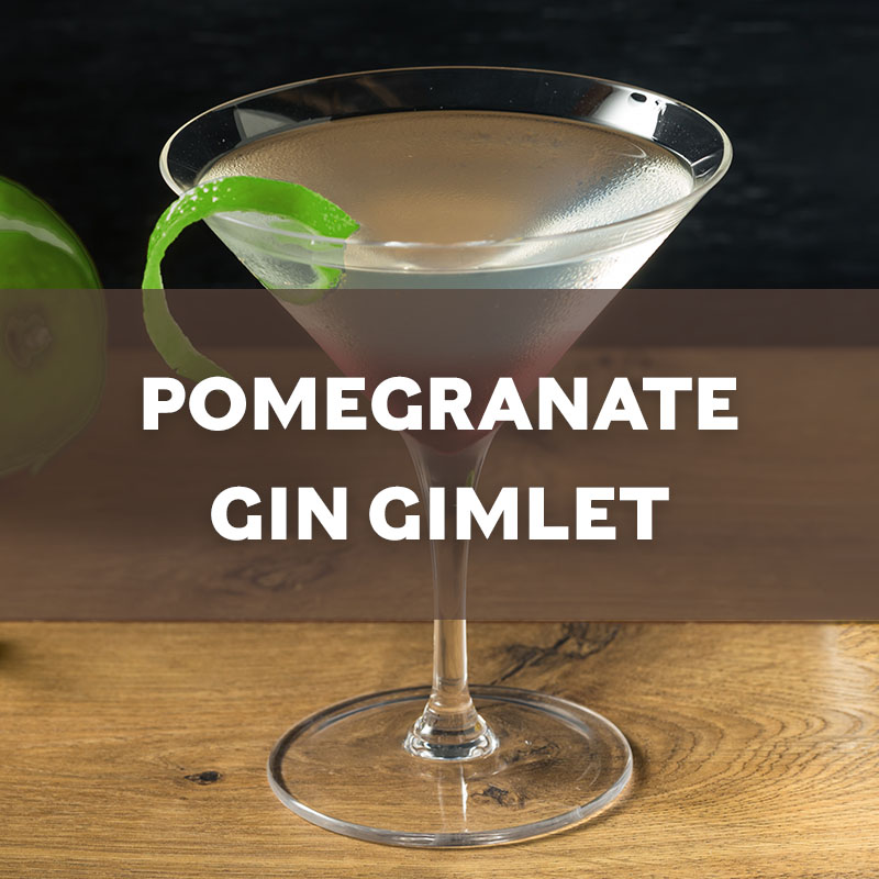 Pomegranate Gin Gimlet Cocktail Recipe