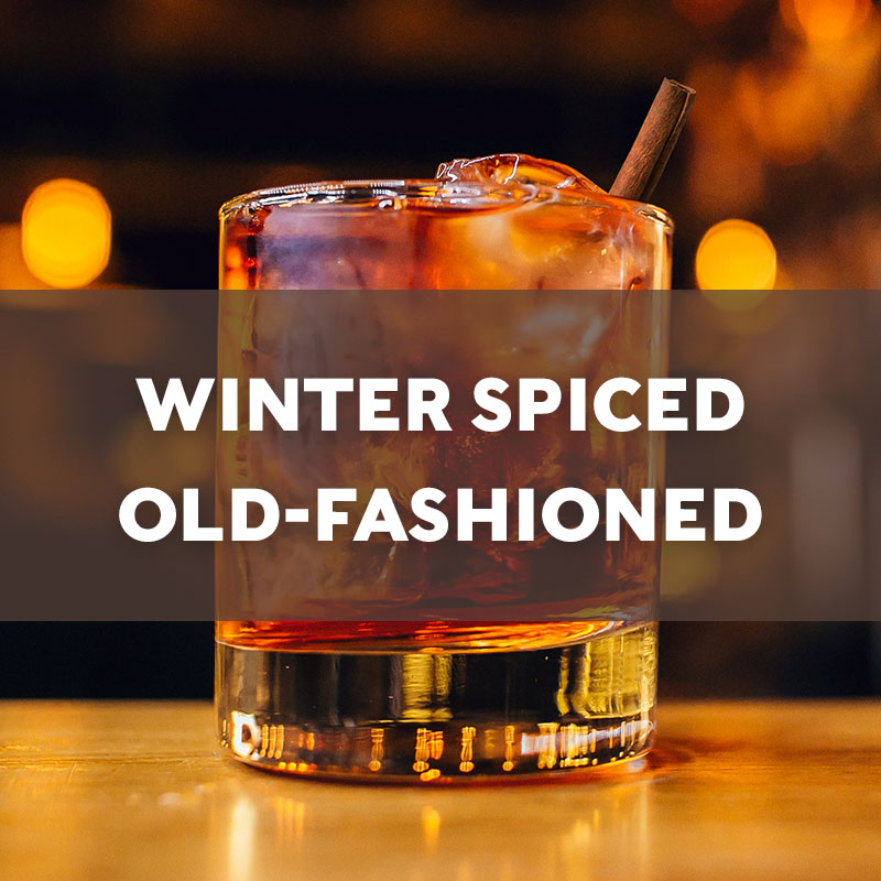 Winter Spiced Old-Fashioned Cocktail Recipe