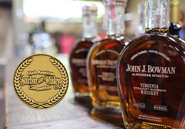 John J Bowman and Cask Strength win Gold Medal in 2021 North American Bourbon and Whiskey Competition